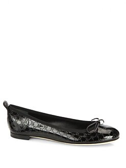 Gucci - GG Patent Leather Ballet Flats