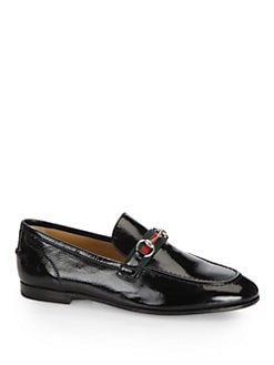 Gucci - Horsebit Patent Leather Loafers