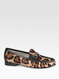 Gucci - Horsebit Pony Hair & Leather Loafers