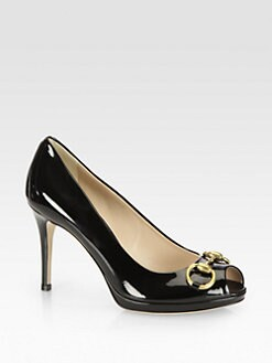Gucci - Patent Leather Horsebit Pumps