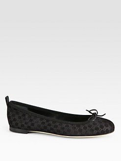 Gucci - Ali GG Velvet Ballet Flats
