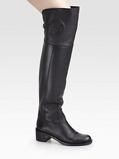 Gucci - Soho Over-The-Knee Leather Boots