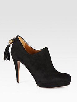 Gucci - Betty Mid-Heel Suede Ankle Boots