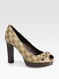 Gucci - Sunset Horsebit GG Pumps