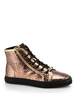 Gucci - Cali Glitter High-Top Sneakers