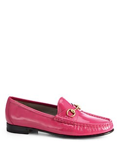 Gucci - Patent Leather Horsebit Loafers