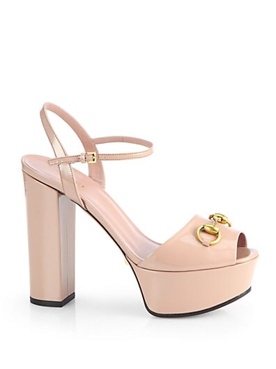 Claudie Patent Leather Platform Sandals