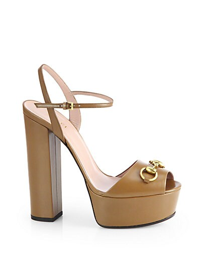 Claudie Leather Platform Sandals