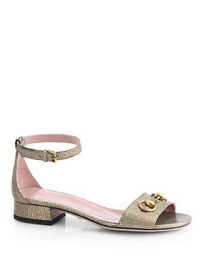Liliane Crackled Leather Sandals