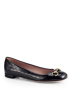 Gucci - Jolene GG Patent Leather Ballet Flats