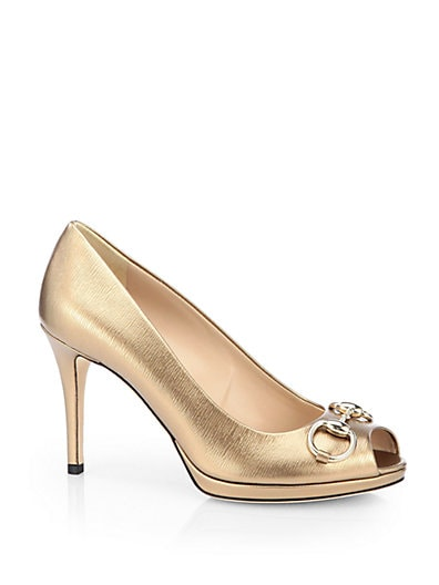 New Hollywood Metallic Leather Pumps