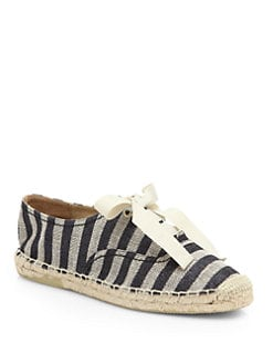 Kate Spade New York - Lido Striped Lace-Up Espadrille Sneakers