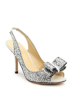 Kate Spade New York - Charm Glitter Slingbacks