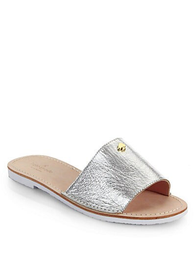 sale online store Kate Spade New York Metallic Leather Sandals discount Manchester Ro1R3aKhh