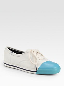 Kate Spade New York - Kicks Bicolor Canvas Lace-Up Sneakers