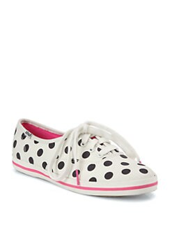 Kate Spade New York - Kick Polka Dot Canvas Lace-Up Sneakers