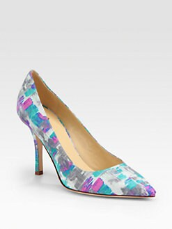 Kate Spade New York - Pandora Multicolored Embossed Leather Pumps