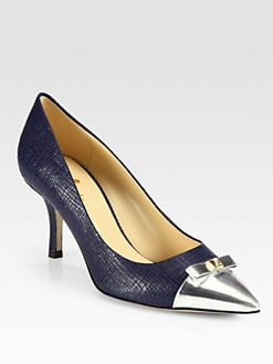 Kate Spade New York - Jiji Embossed Leather Pumps