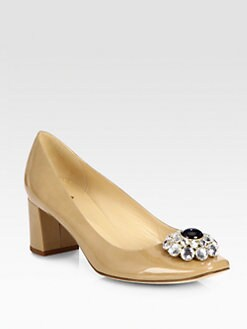 Kate Spade New York - Decadent Jeweled Patent Leather Pumps