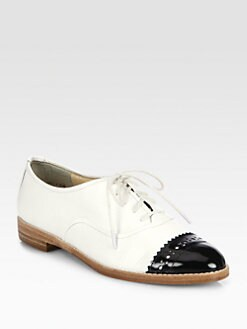 Kate Spade New York - Poppin Patent Leather Lace-Up Oxfords
