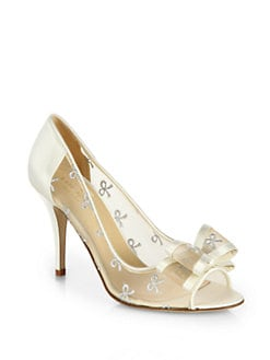 Kate Spade New York - Calina Mixed-Media Bow Pumps