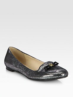 Kate Spade New York - Treat Suede Bow Smoking Slippers