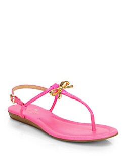 3e40ae2a7810 Kate Spade New York Tracie Patent Leather Thong Sandals