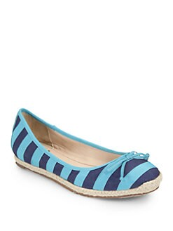 Kate Spade New York - Valley Canvas & Grosgrain Ballet Flats
