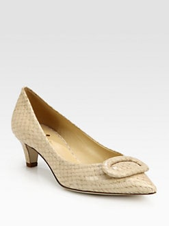 Kate Spade New York - Simon Snake-Print Leather Pumps