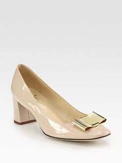 Kate Spade New York - Dijon Patent Leather Bow Pumps
