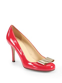 Kate Spade New York - Karolina Bow Patent Leather Pumps
