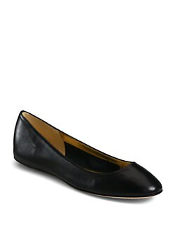 Kate Spade New York - Kat Leather Ballet Flats