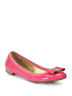 Kate Spade New York - Tock Patent Leather Bow Ballet Flats