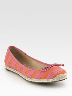 Kate Spade New York - Valley Striped Canvas Espadrille Ballet Flats