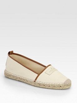 Kate Spade New York - Lara Canvas & Leather Espadrilles