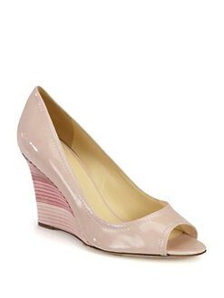 Kate Spade New York - Carmine Patent Leather Wedge Pumps