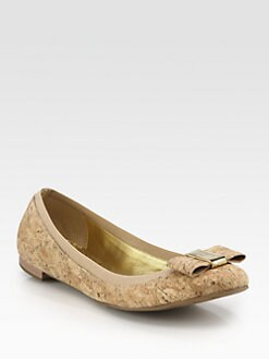 Kate Spade New York - Tock Cork Bow Ballet Flats