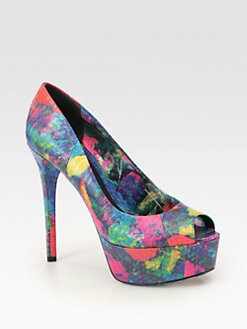 B Brian Atwood - Bambola Multicolored Snakeskin Pumps