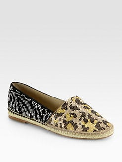 B Brian Atwood - Hartwell Studded Suede Espadrilles