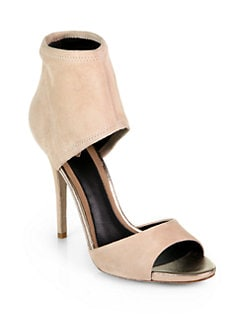B Brian Atwood - Correns Stretch Suede Sandals