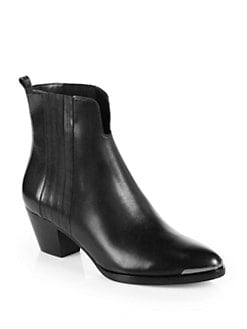 B Brian Atwood - Gracey Leather Ankle Boots