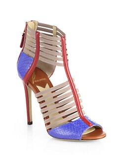 B Brian Atwood - Langden Strappy Mixed Media Sandals