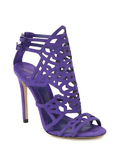 B Brian Atwood - Laplata Cutout Suede Sandals