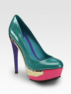 B Brian Atwood - Leonida Patent Leather Platform Pumps