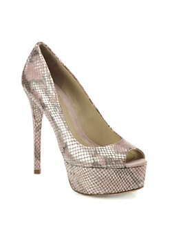 B Brian Atwood - Bambola Snakeskin Pumps