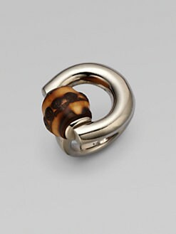 Gucci - Bamboo Horsebit Sterling Silver Ring