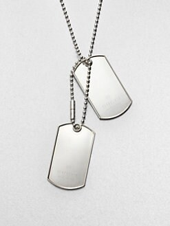 Gucci - Double Tag Sterling Silver Necklace