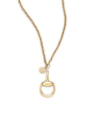 Horsebit 18K Yellow Gold Pendant Necklace