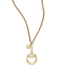Gucci - 18K Yellow Gold Horsebit Necklace