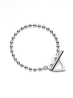 Gucci - Sterling Silver Heart Bracelet